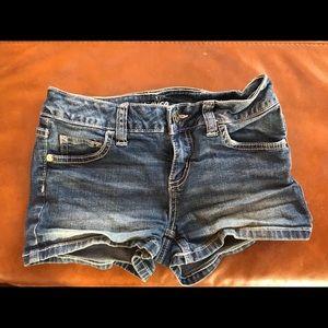 Girls justice denim shorts